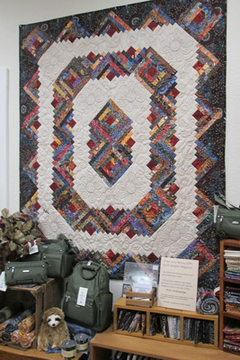 Aboriginal Log Cabin Quilt from Creations