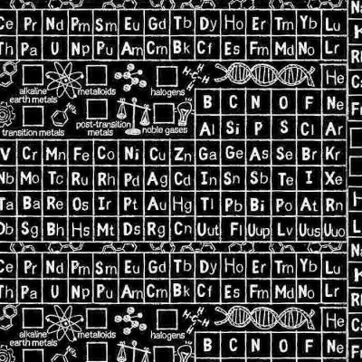 C8231 Black Periodic Table from Timeless Treasures