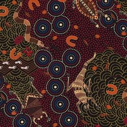 Around Waterhole M & S Textiles Red AWR