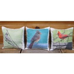 Digital print Bird Panels Cardinals and Titmouse