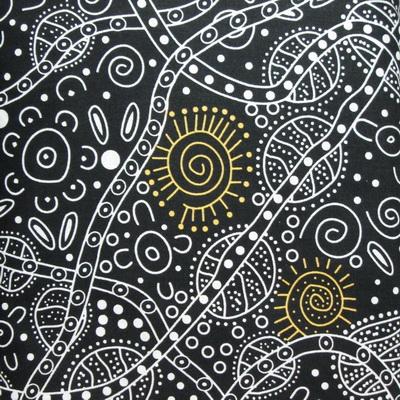 Bush Tucker Aboriginal Print by M & S Textiles