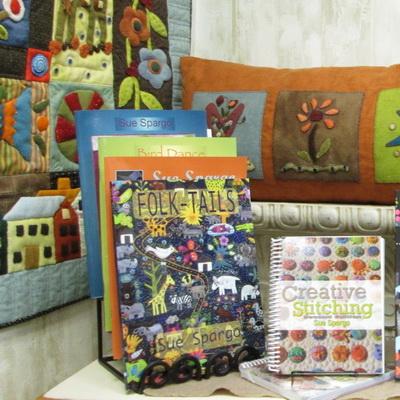 Wool display at Creations