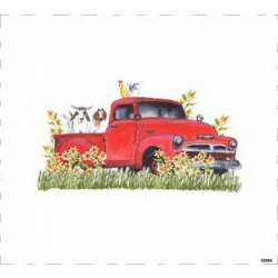 Quiltblock Art from Kathleen McElwaine Red Truck DE004