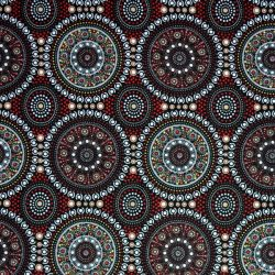 Aboriginal Australian Print Bush Berry Red