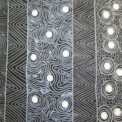 Aboriginal Fabric Four Seasons Black