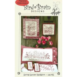 Bird Bran Machine Embroidery 126ME Spring Garden