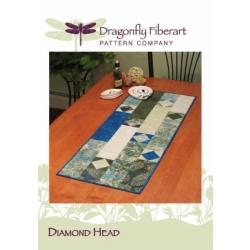 Dragonfly Fiberart Tablerunner DFTR-40 Diamond Head