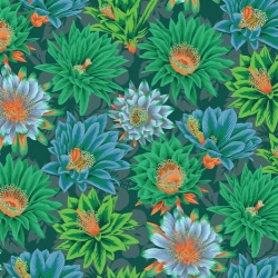 Philip Jacobs for Free Spirit Fabrics Cactus Flower Green PWPJ096 Green