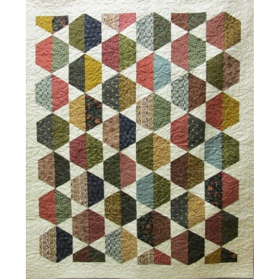 Cut the Cake Hexie Quilt Kit from Kerrville Creations