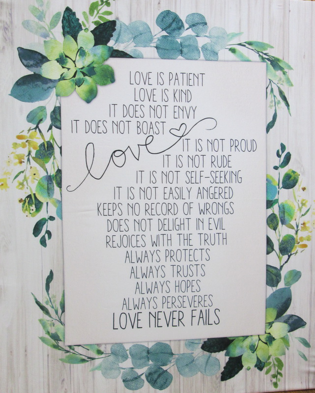 """""""Love Never Fails"""" from QT Fabrics is back in stock"""