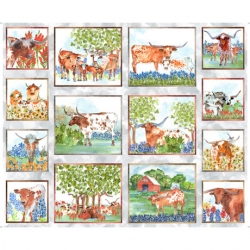 Quilting Treasures Quilt Block Art Longhorn 28075 K
