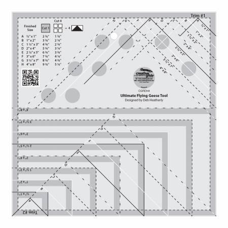 Creative Grids Ruler Ultimate Flying Geese Trim Tool CGRDH4