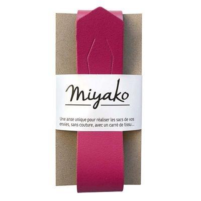 Miyako Purse Handle MYAM033 Rasberry