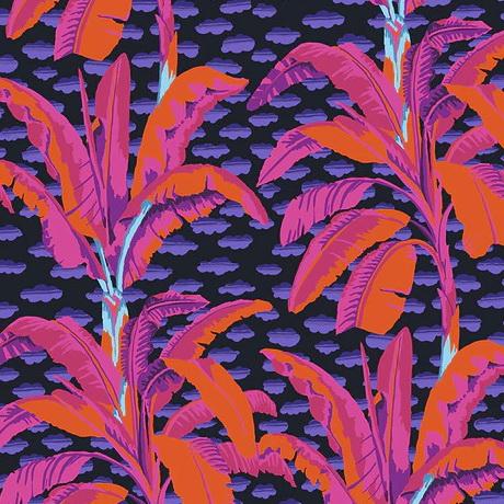 Free Spirit Fabric Banana Tree PWGP179 Black