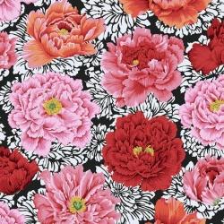 Free Spirit Fabrics Brocade Peony PWPJ062 Crimson