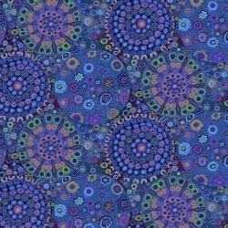 Free Spirit Fabrics Wide BAck Millefiore QBGP006 Blue