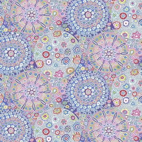 Free Spirit Fabrics Wide BAck Millefiore QBGP006 Pastel