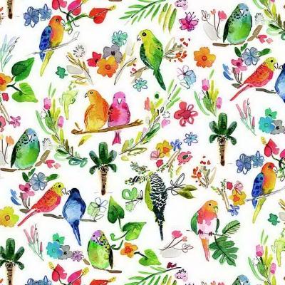 Dear Stella Fabrics DJL1775 Multi Parrots