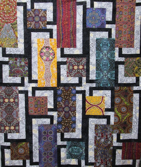 BQ4 Quilt Kit from Creations with Aboriginal prints