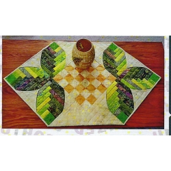 Cut Loose Press Pattern Cabin Leaves Table Runner CLPNAM004