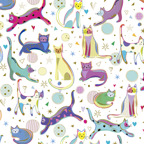 Clothworks Kitty Cats 27923 Z