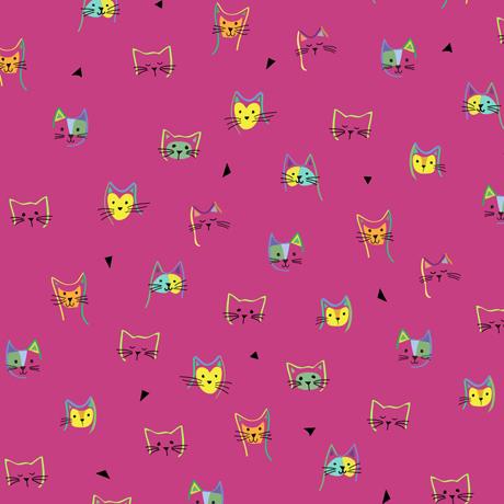 Clothworks Kitty Cats 27924 P