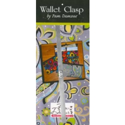 """Pam Damour Wallet Clasp NOT12 Silver 7.5"""""""
