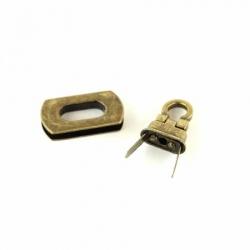 Sallie Tomato Purse Hardware Pocket Flip Lock STS162A Antique Brass