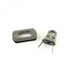 Sallie Tomato Purse Hardware Pocket Flip Lock STS162B Gunmetal