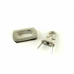 Sallie Tomato Purse Hardware Pocket Flip Lock STS162S Silver