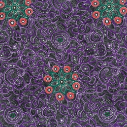 M & S Textiles Yallaroo Purple YALP
