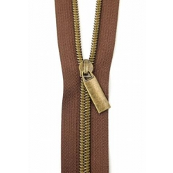 Sallie Tomato Zippers by the Yard Brown/Antique ZBY5C34