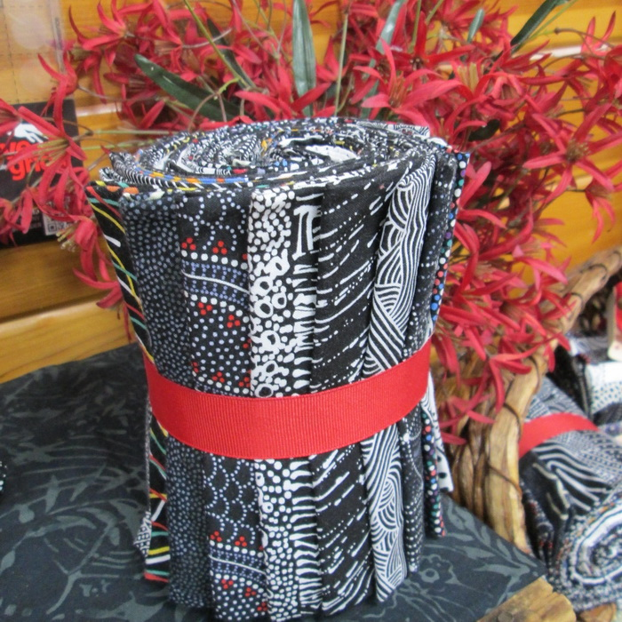 Fat Quarter Pack Aboriginal prints from Creations Black and White