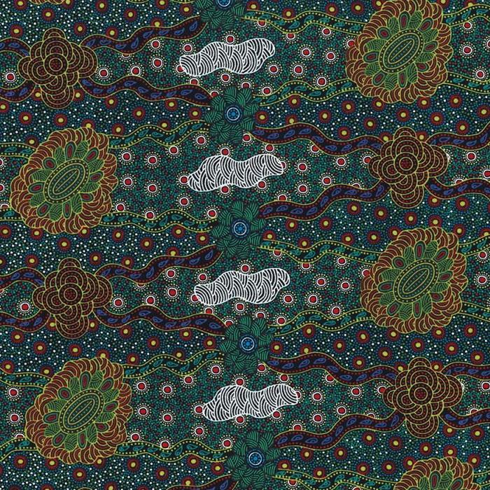 M & S Textiles Lillup Dreaming Green LDRG