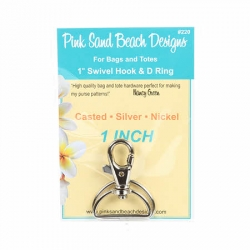 """Pink Sand Beach Swivel Hook and D-Ring 1"""""""