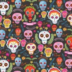 MIchael Miller Fabrics CX9423 Sugar Skulls