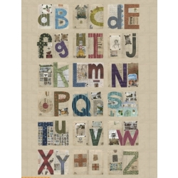Windham Fabrics Marcia Derse Alphabet Panel 41788P-X