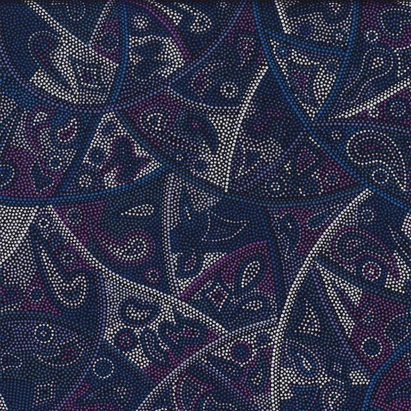 M & S Textiles Looking Around Purple LARP