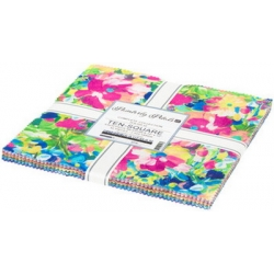 Robert Kaufman Painterly Petals Pre-cut Ten Inch Squares