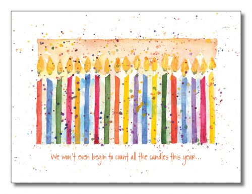 Words & Watercolors Card Birthday B1047