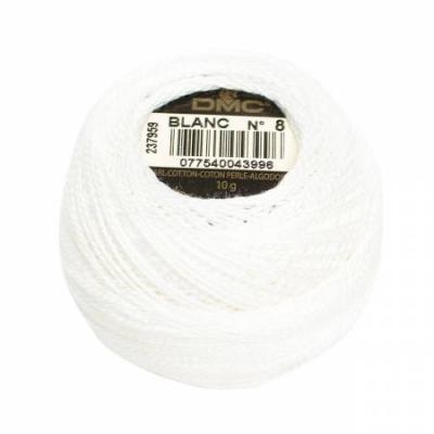 DMC Perle Cotton Size 8 116-8-WHT