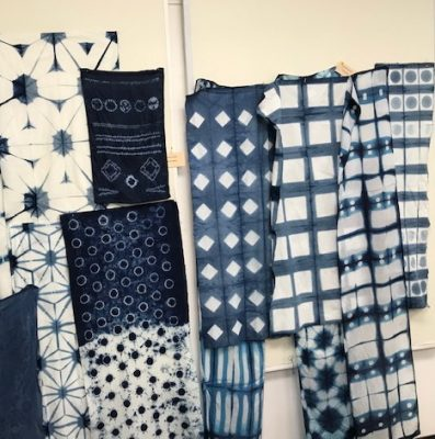 Fabrics created at Debby Maddy Retreat in Kerrville, Texas at The Main House