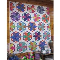 Vintage Windmill Quilt from Creations with Kaffe Fassett fabrics