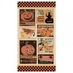 Clothworks Retro Halloween Panel Y3245 55