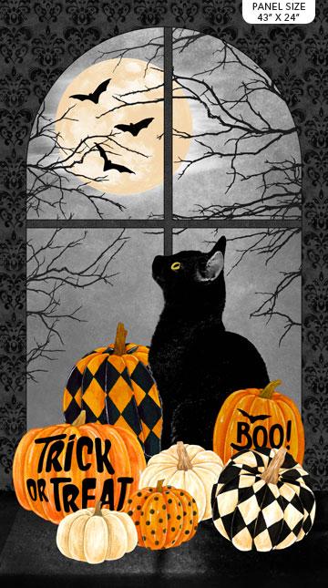 Northcott Black Cat Capers Panel 24114 99