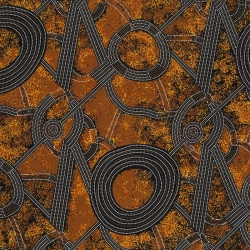 M & S Textiles Bush Plum 2 Gold