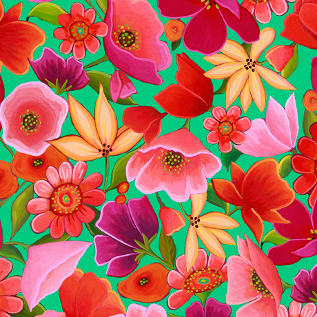 QT Fabrics Wild Beauty 28504 G