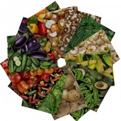 Quilting Treasures Fresh Vegetables Fat Quarter Bundle