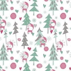 Free Spirit Fabrics Snowy Day Flannel FNSP001 White