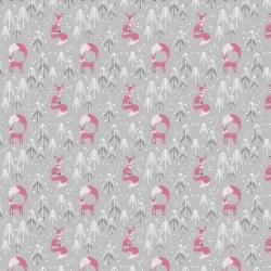 Free Spirit Fabrics Snowy Day Flannel FNSP002 Gray